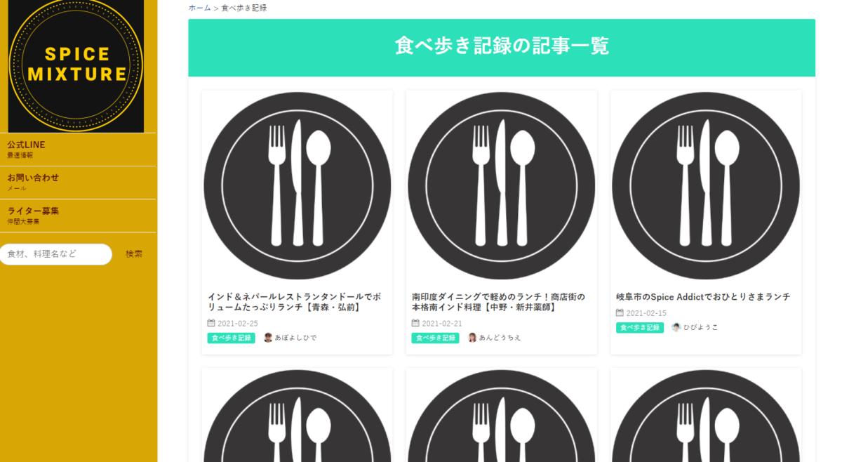 食べ歩き記録の記事一覧画像
