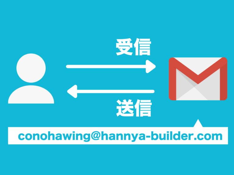 ConoHa WINGの独自ドメインに届いたメールをGmailで送受信する転送設定の方法
